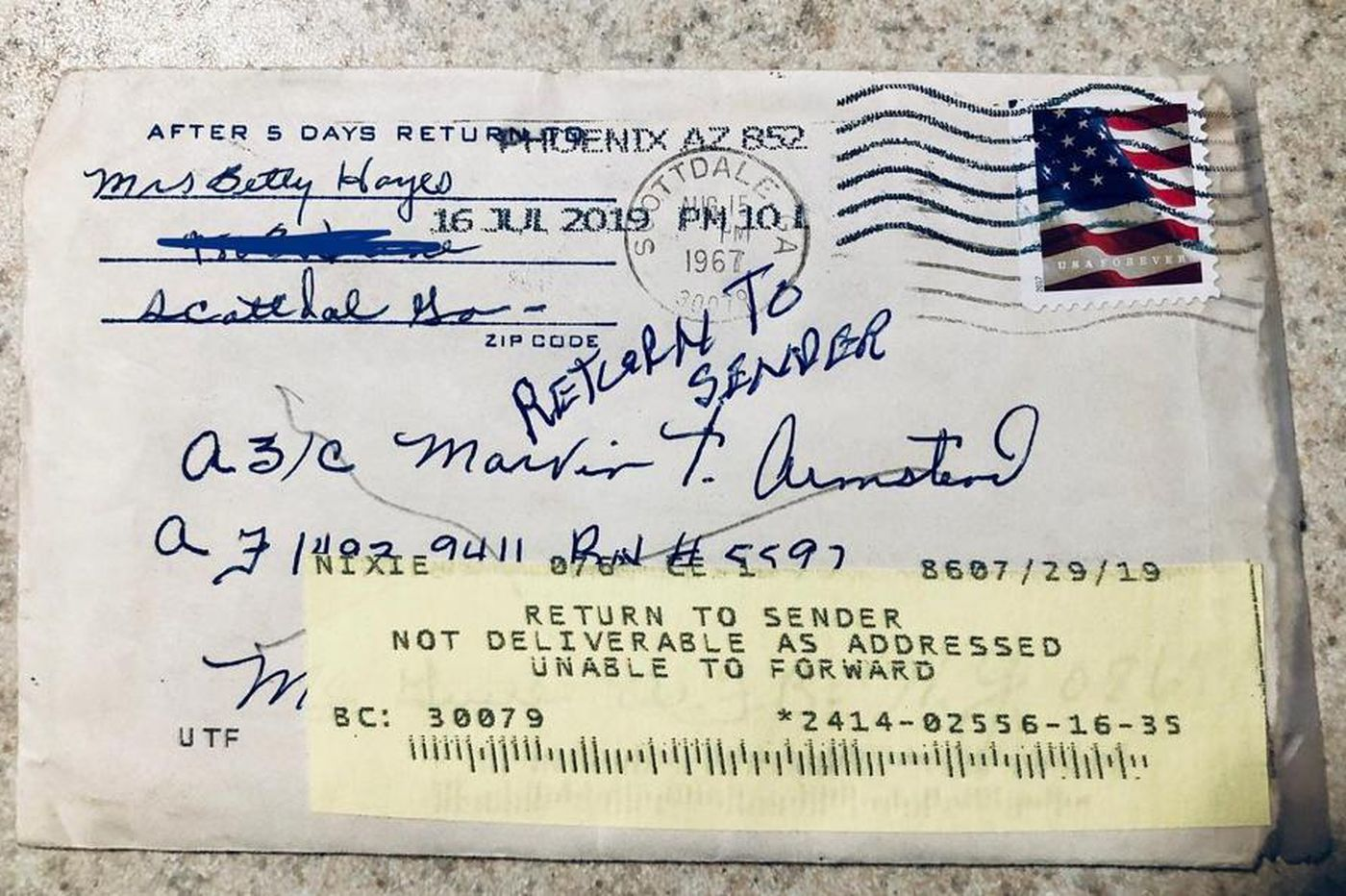 Unraveling the mystery of a letter from 1967 that just showed up in the mail