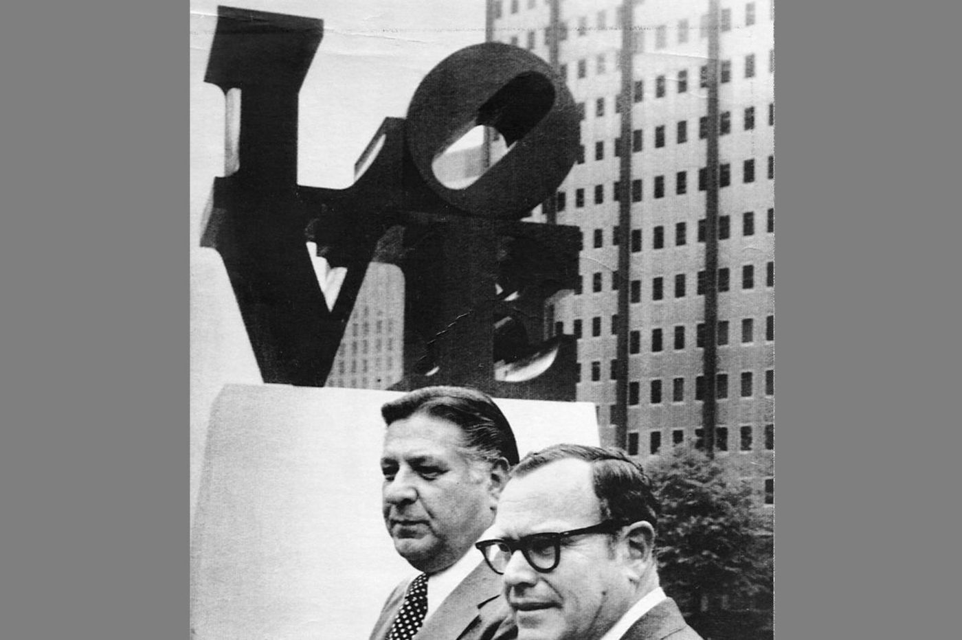 Frank Rizzo's bureaucrats almost got rid of the LOVE sculpture, but Sixers owner Fitz Dixon saved it