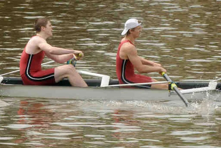 The St. Joseph's Prep senior eight crew posted the best time in the qualifying heats of the Stotesbury Cup Regatta, clocking 4 minutes, 5.91 seconds on the Schuylkill.