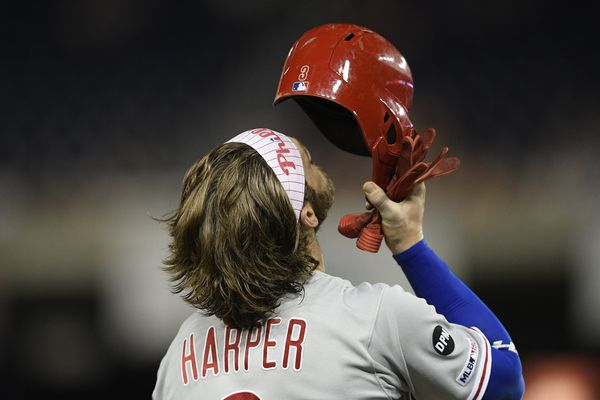 Phillies lose to Nationals as Bryce Harper's old team strives while his new team skids