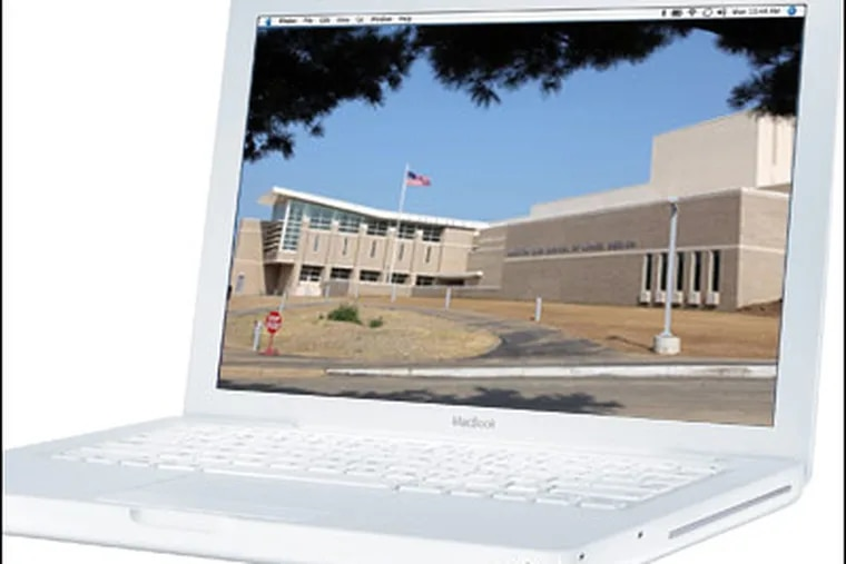All 2,290 high school students in the Lower Merion School District, including students at Harriton High (inset), had been issued Apple laptops, according to Doug Young, district spokesman.