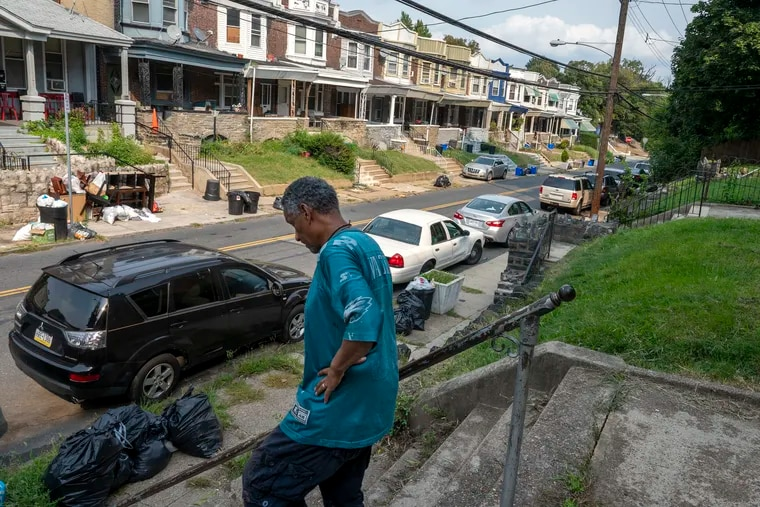 Leon King in their Tioga neighborhood earlier this month. Comparing shootings to COVID-19 cases finds that in some ZIP codes - like 19140 in North Philadelphia - a person is more likely to be shot than be killed by the coronavirus.