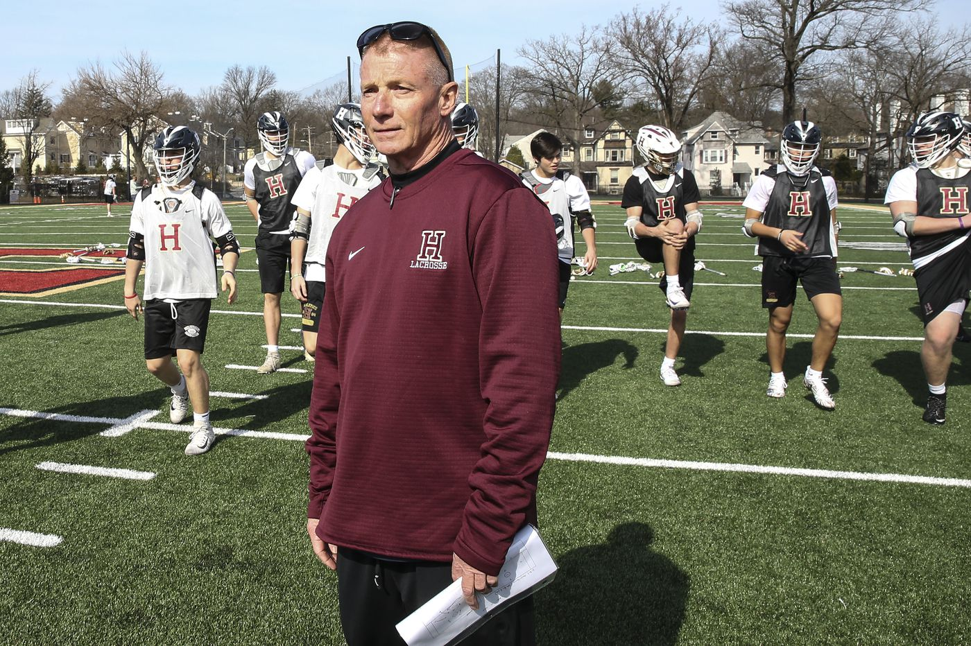 Haverford School's John Nostrant, in his final days as lacrosse coach, is looking to the future