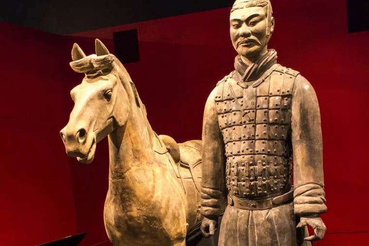 FBI agents arrested a Delaware man earlier this month for allegedly snapping off and stealing the thumb of a nearly 2,000-year-old terracotta warrior on loan to the Franklin Institute from China.
