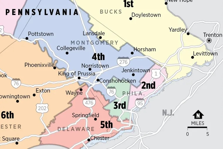 New congressional districts in Southeastern Pennsylvania could be changed if Harrisburg acts (or not) on redistricting reform.