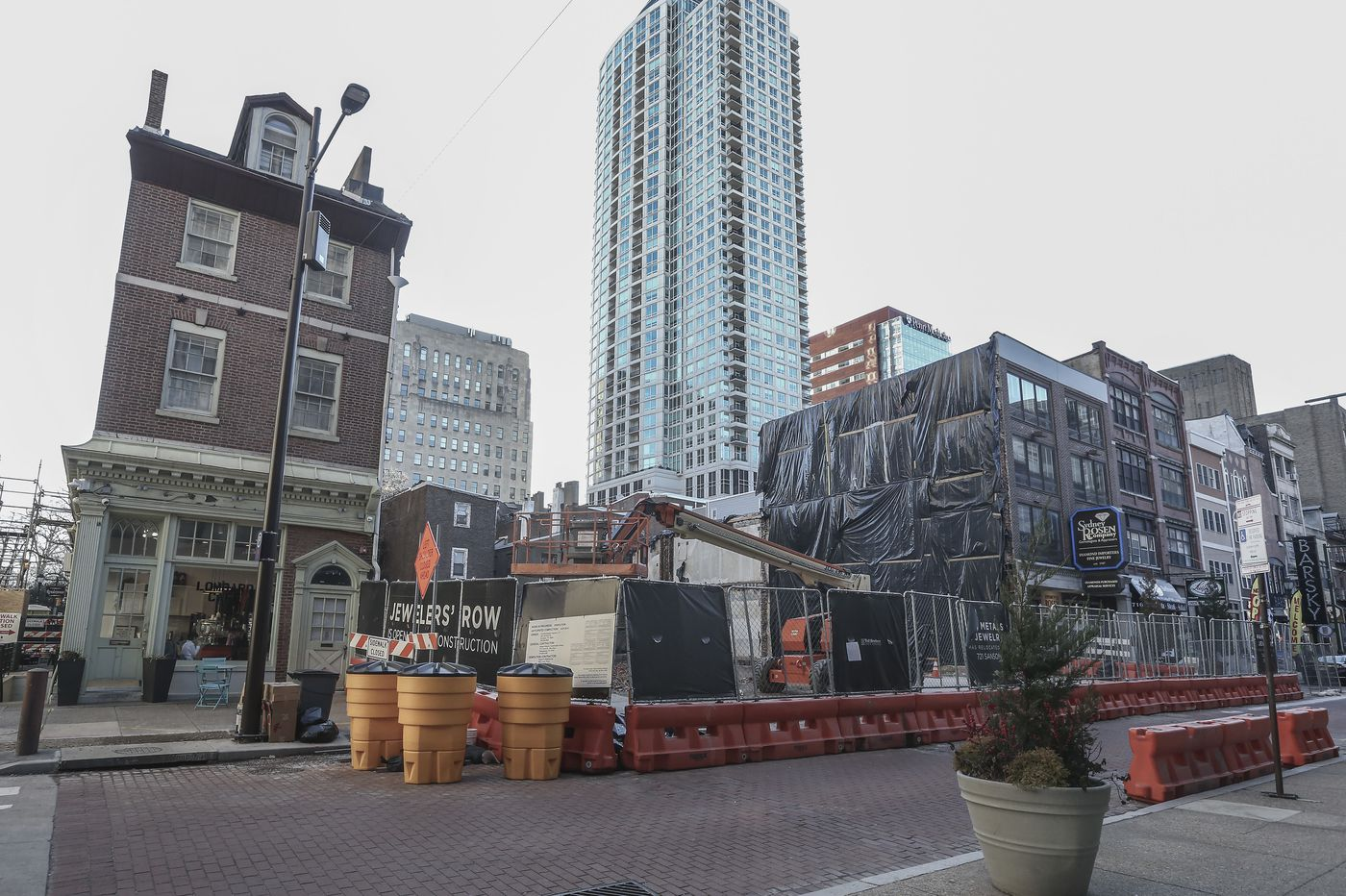 Jewelers Row condo-tower developer Toll Bros. pauses work amid coronavirus uncertainty