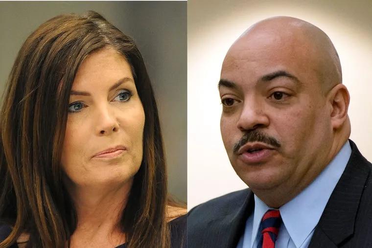 Attorney General Kathleen G. Kane and Philadelphia District Attorney Seth Williams.