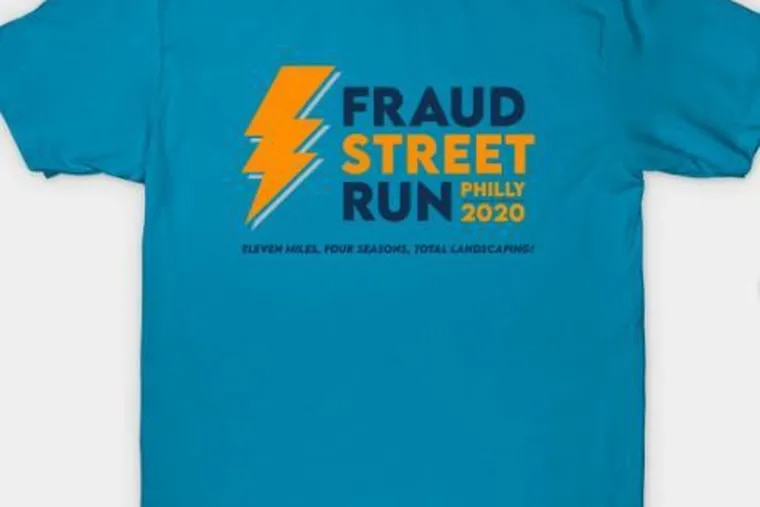 T-shirts for the Fraud Street went on sale Wednesday. By Thursday, 950 had already been sold.