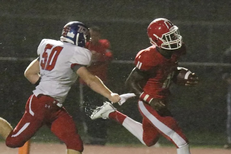 Senior RB Iverson Clement leads Rancocas Valley vs. Lenape in Saturday night's S.J. 5 title game.