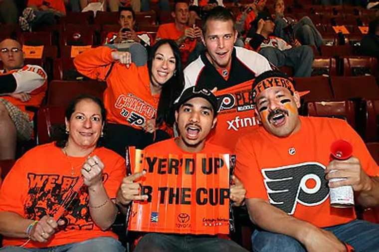 The Flyers have seen a big jump in fan optimism since last March. (Steven M. Falk/Staff file photo)