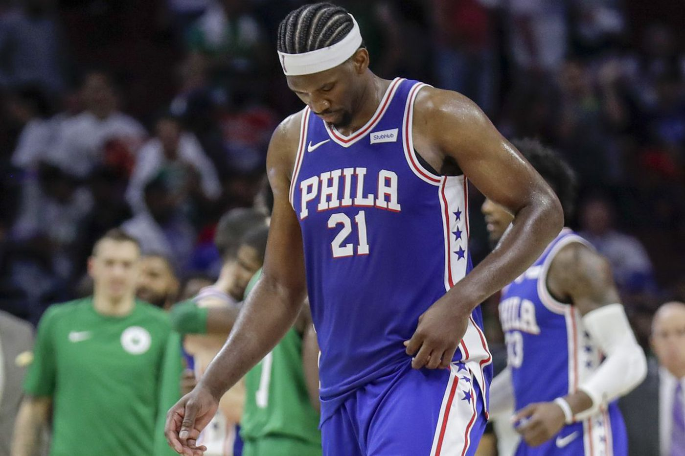 Sixers' Richaun Holmes: Joel Embiid 'looked pretty good' at shootaround before Raptors game