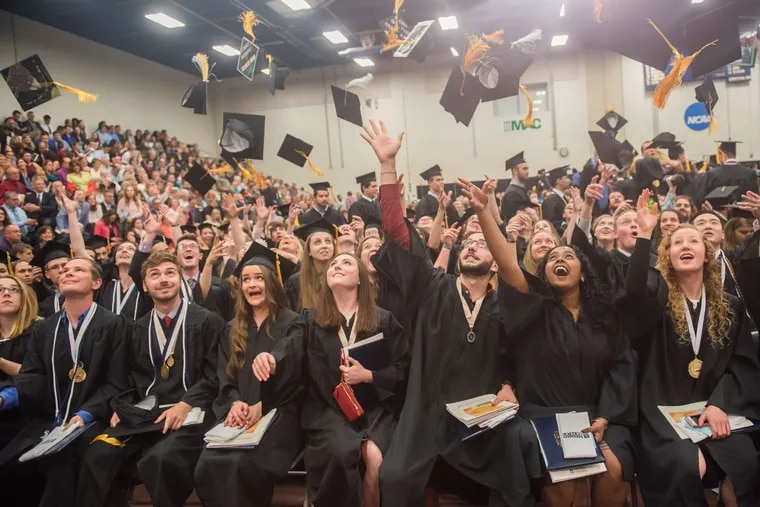 Messiah College's undergraduate Commencement ceremony. The school is using a novel concept to enable students to pay back loans from future salaries.