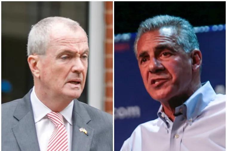 New Jersey Democratic Gov. Phil Murphy, left, and Republican gubernatorial nominee Jack Ciattarelli.