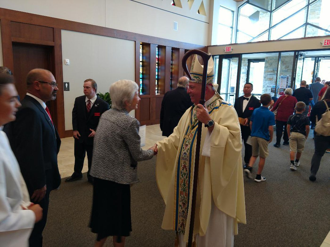 Bishop Nelson Pérez celebrated a parish dedication mass Sept. 8 at St. Ambrose Church in Brunswick. A $5.6 million renovation of the church was completed this year.