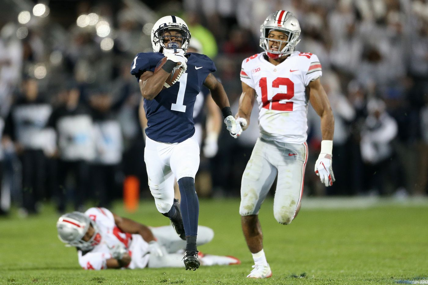 Trace McSorley, K.J. Hamler's 93-yard touchdown pass in Penn State vs. Ohio State ranked second longest in school history