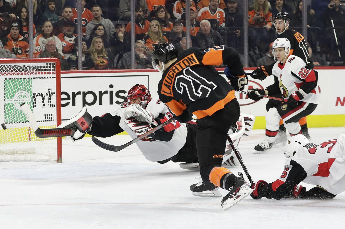Scott Laughton returns to Flyers' lineup against Kings; Brian Elliott back in nets