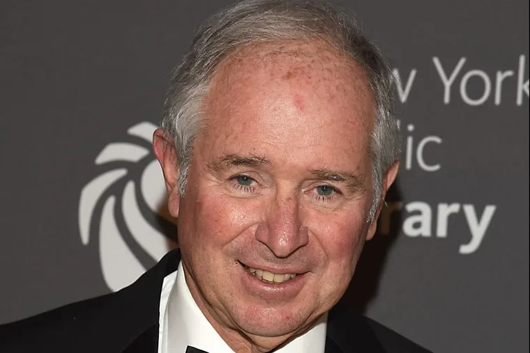Stephen Schwarzman attends the 2017 NYPL Library Lions Gala on Nov. 6, 2017 at the New York Public Library in New York.