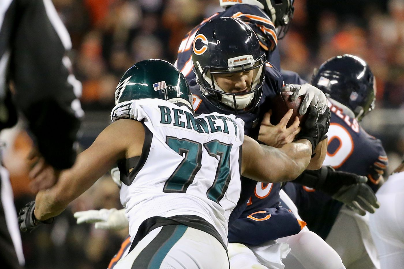 Grading the Eagles: Run defense earns 'A-minus' in playoff win over Bears
