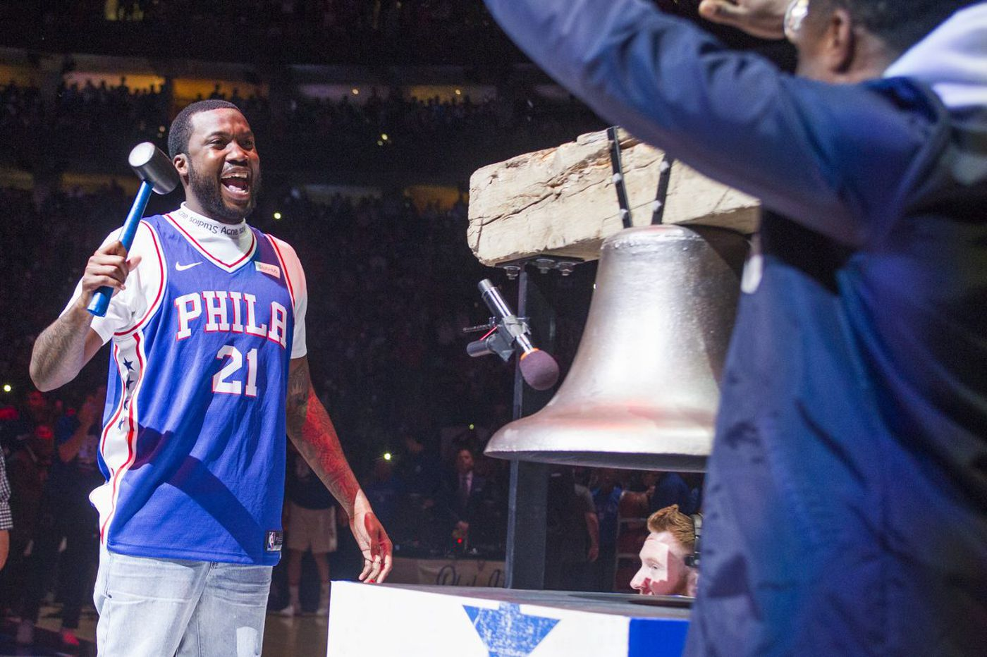 Meek Mill fires up Sixers fans during playoff victory over Heat