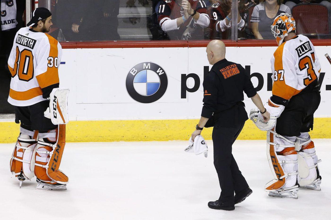 Flyers goalie Brian Elliott has 'core muscle' surgery, team says