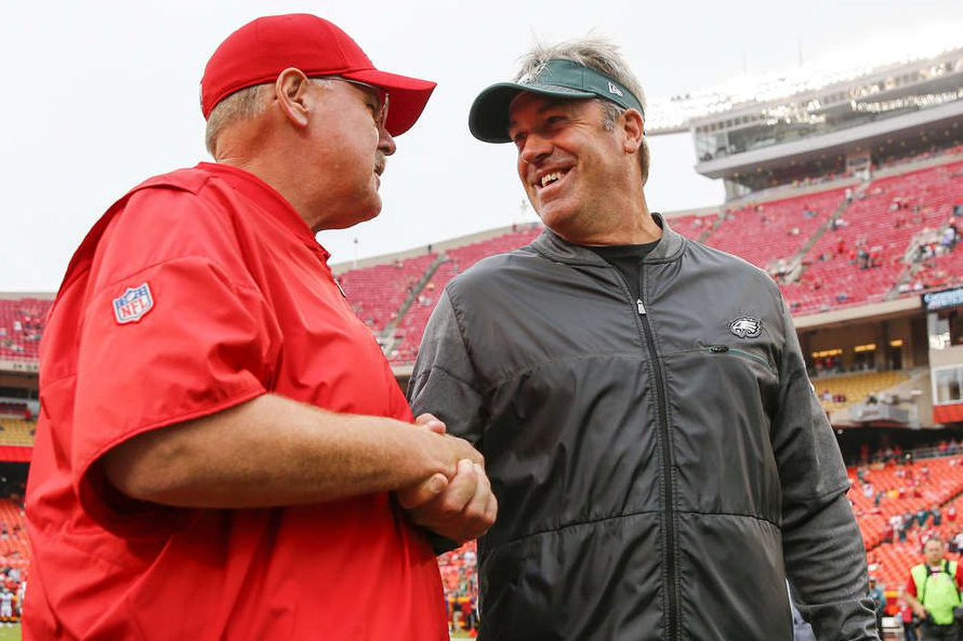 Andy Reid on former proteges Pat Shurmur and Doug Pederson