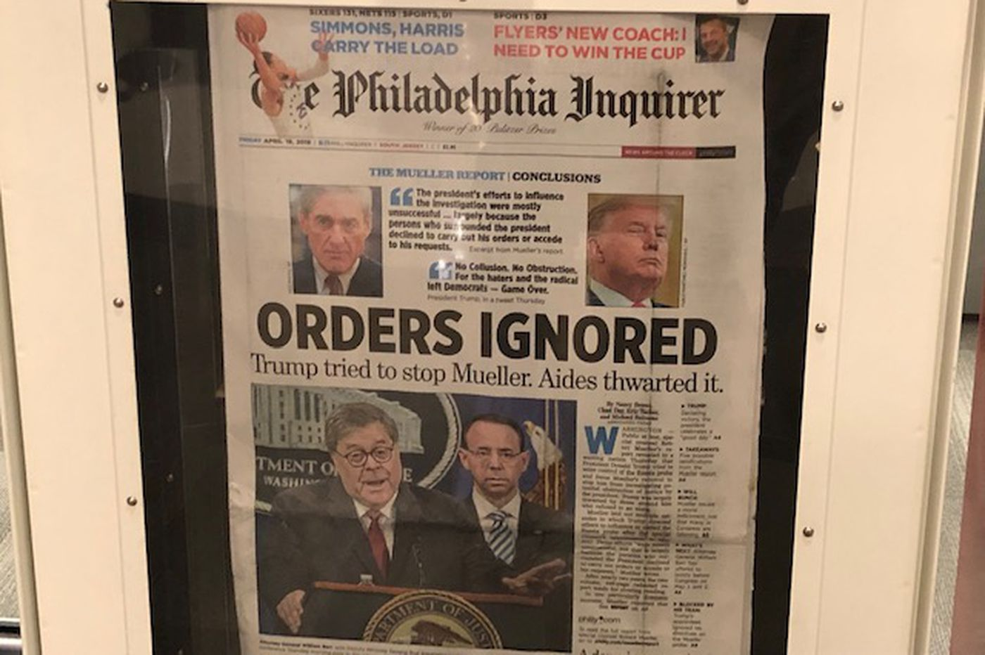 Mueller report front pages: Big story, different takes