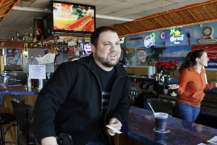 Michael Carbone, manager of the Beachcomber Bar, which has been featured in MTV's 'Jersey Shore' reality show. (AP Photo/Mel Evans)