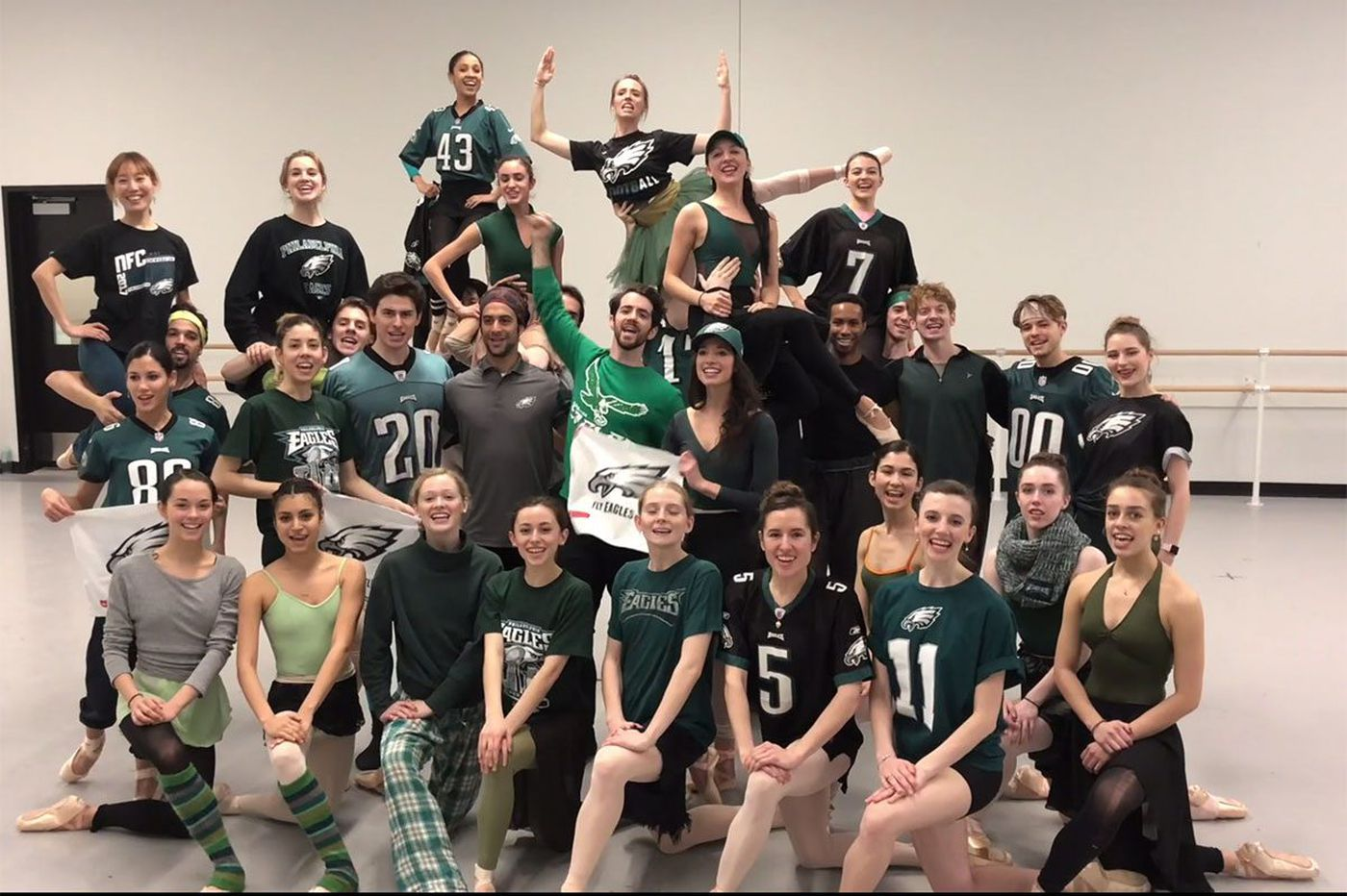 For Super Bowl, Pennsylvania Ballet dancers fly for the Eagles, too
