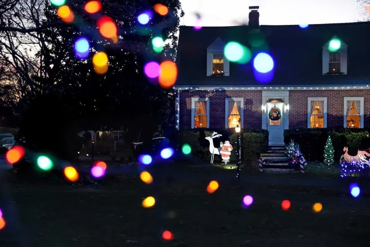 The country home of Chuck and Ginny Heal in Burlington Township is all decked out for Christmas.