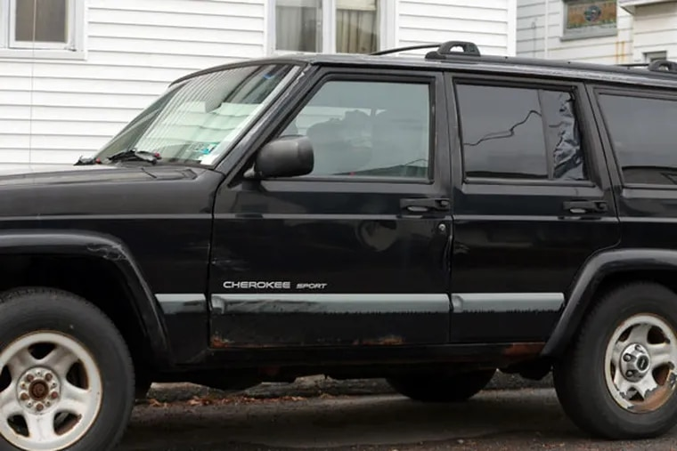 The 1999 Jeep that Attorney General Kathleen Kane's SUV hit early on the morning of Oct. 21 in Dunmore, Lackawanna County.