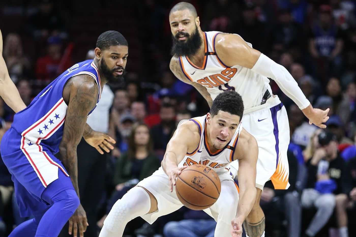 Devin Booker's 46 points carry Suns past Sixers