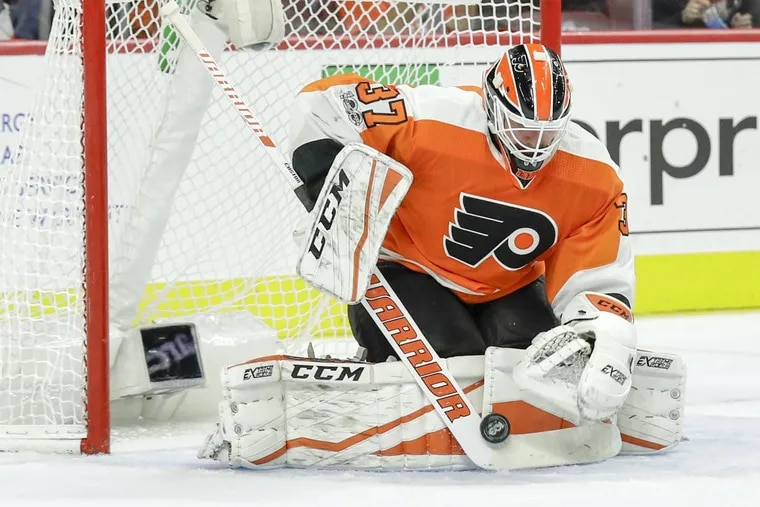 Brian Elliott will make his ninth straight start — and 18th in the last 19 games — when the Philadelphia Flyers host the Detroit Red Wings at the Wells Fargo Center.