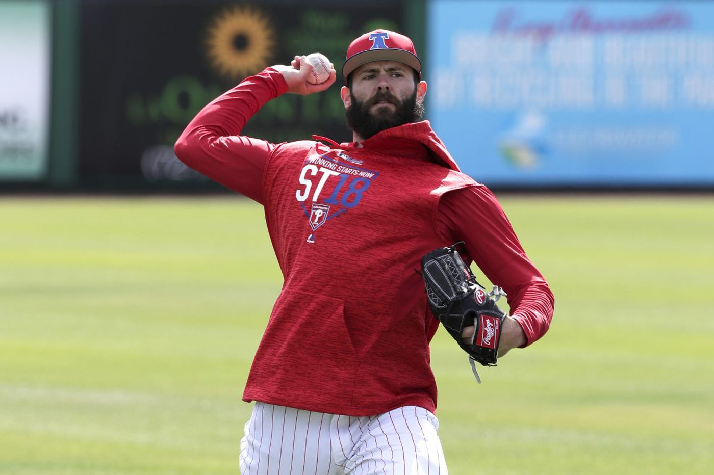 Jake Arrieta throws bullpen session, will pitch in minors Saturday
