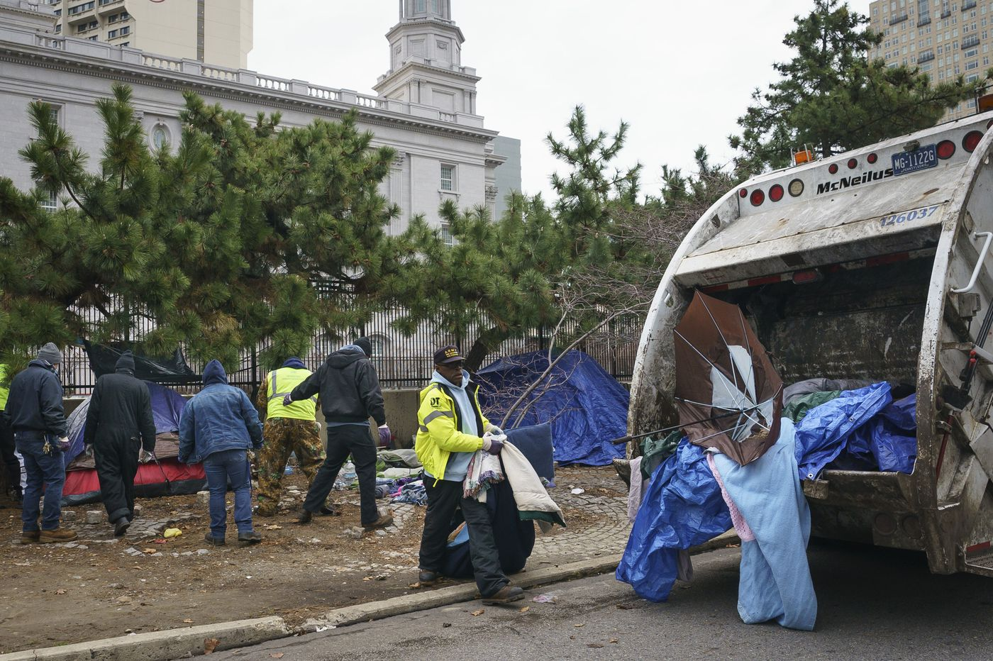 Homeless encampment at 18th & Vine Streets cleared