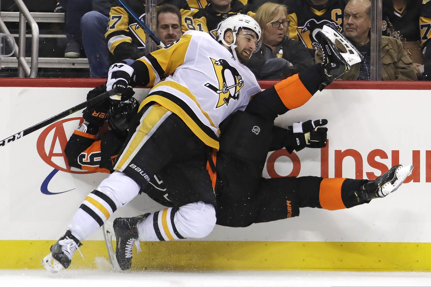 Flyers want emotional play vs. Penguins to have carryover effect