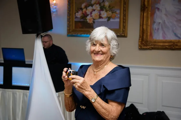 Irene Morgan at a wedding in 2015. She liked beautiful clothes and dancing the Electric Slide.