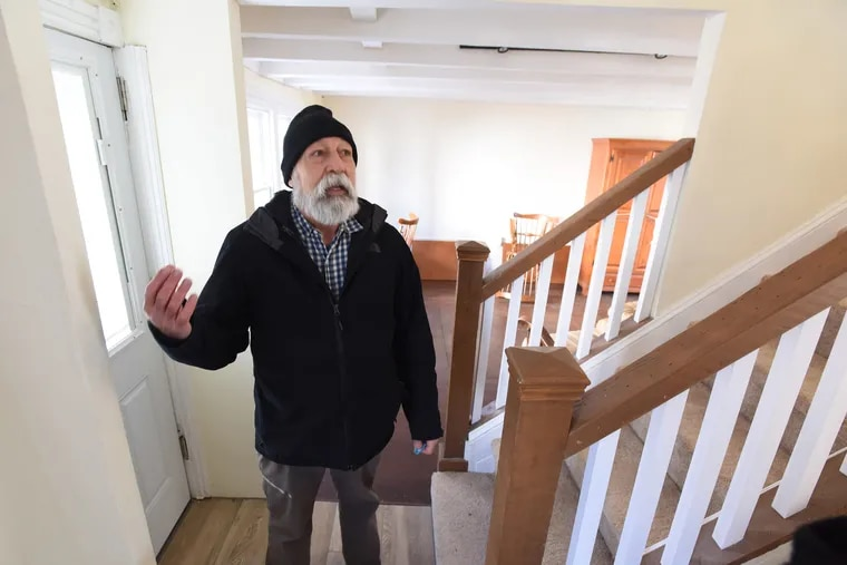 Richard Baxter, a resident director at Good Samaritan Services, shows off a recently donated Phoenixville home that the nonprofit plans to turn into transitional housing.