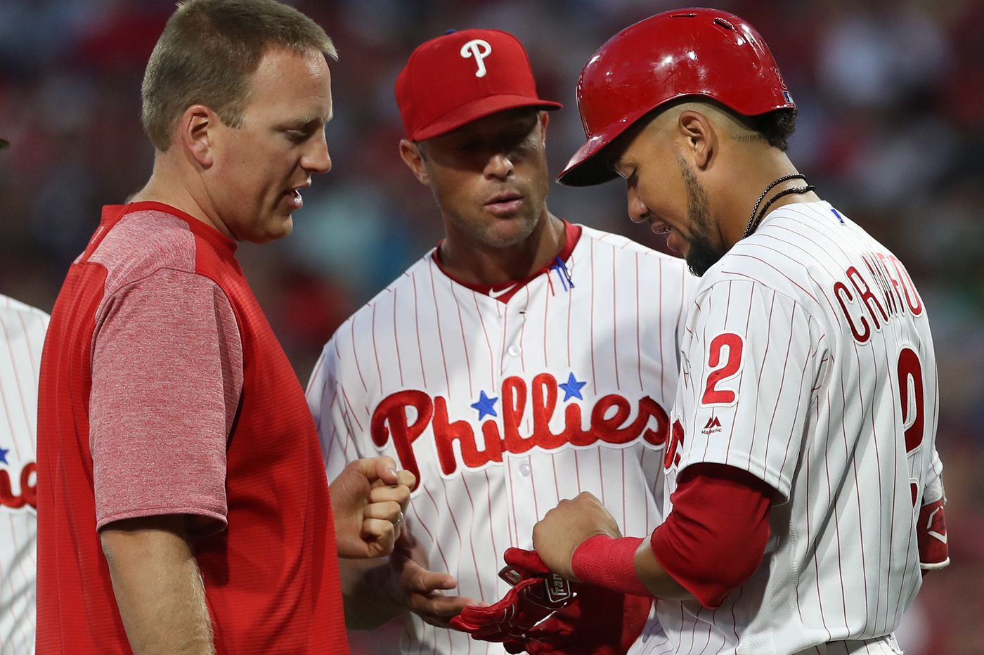 No surgery for Phillies' J.P. Crawford; Jerad Eickhoff is 'cautiously optimistic'