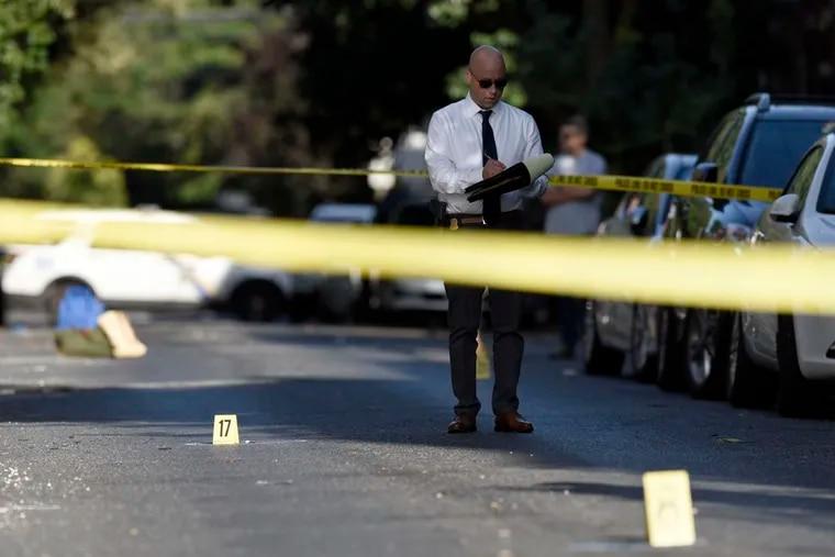 A Philadelphia Police investigator in a file photo.