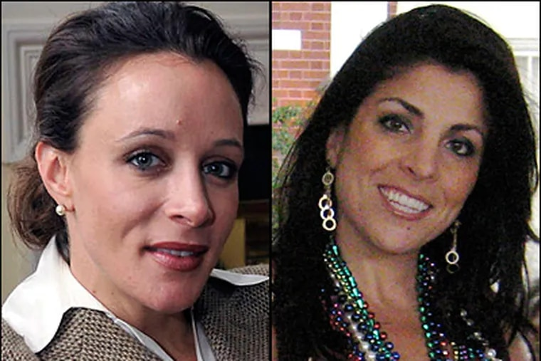 """Paula Broadwell, left, author of the David Petraeus biography """"All In,"""" carried on an affair with Petraeus, according to several U.S. officials with knowledge of the situation. A senior U.S. military official says Broadwell sent harassing emails to Jill Kelley of Tampa, right, the State Department's liaison to the military's Joint Special Operations Command. (Broadwell photo: AP Photo/The Charlotte Observer, T. Ortega Gaines; Kelley photo: AP)"""