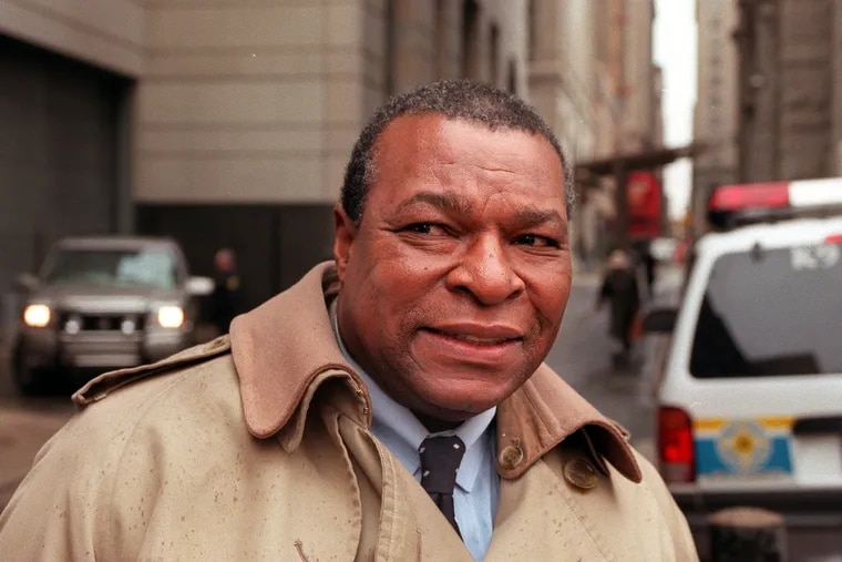 Roger King on his way to court at the Criminal Justice Center in Philadelphia.