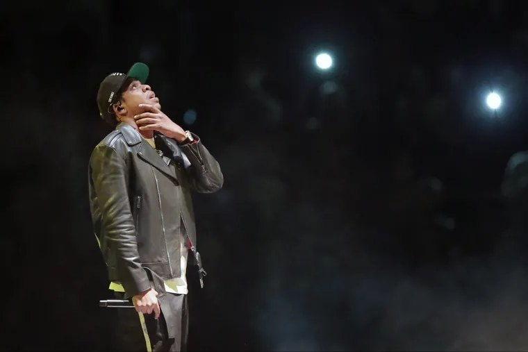 Jay-Z performs at the Wells Fargo Center in Philadelphia on December 1, 2017.