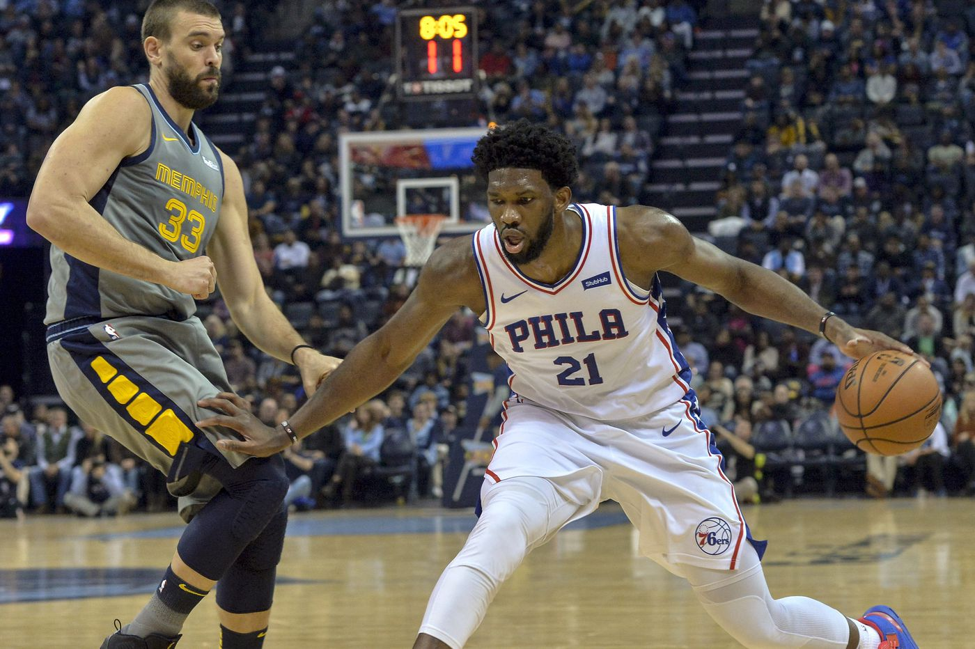 Shorthanded Sixers fall to Grizzlies in overtime in game overshadowed by trade