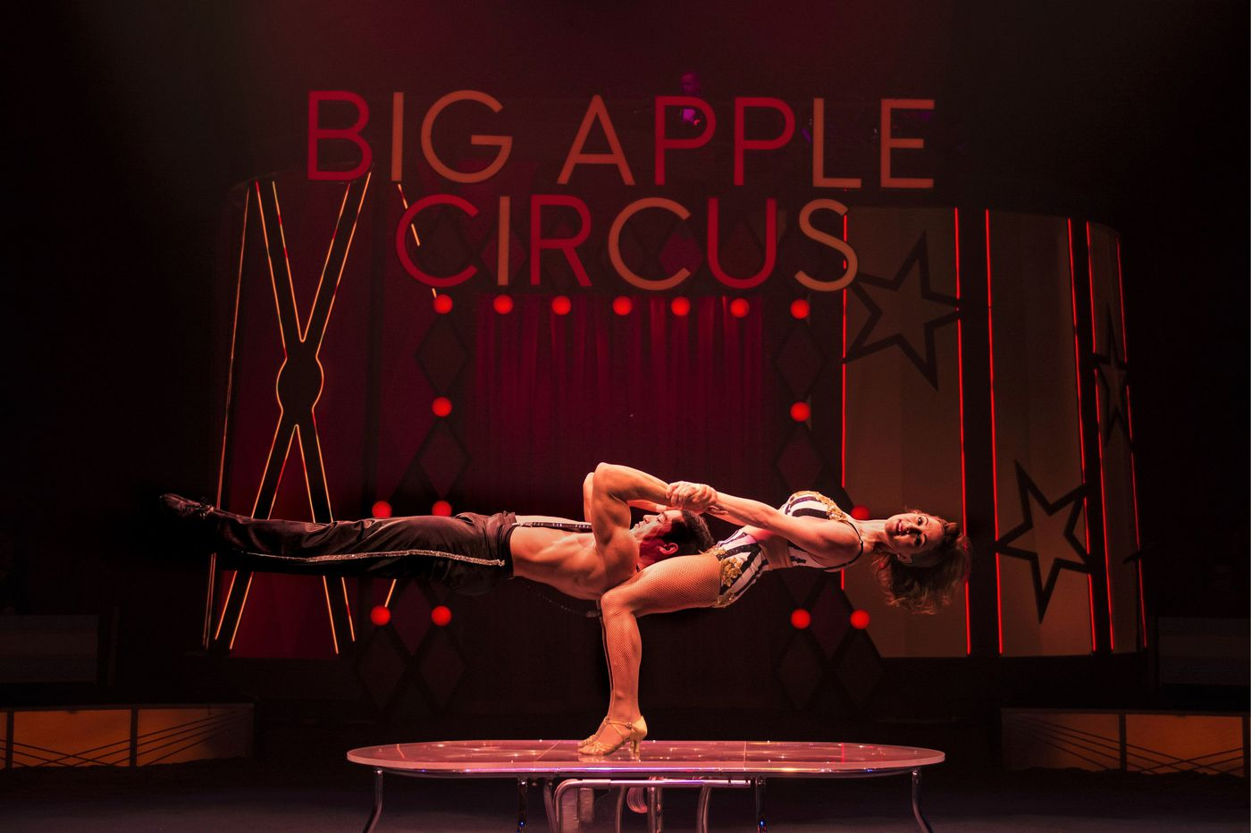 This Big Apple Circus performer built her career on lifting her husband — in 3-inch heels