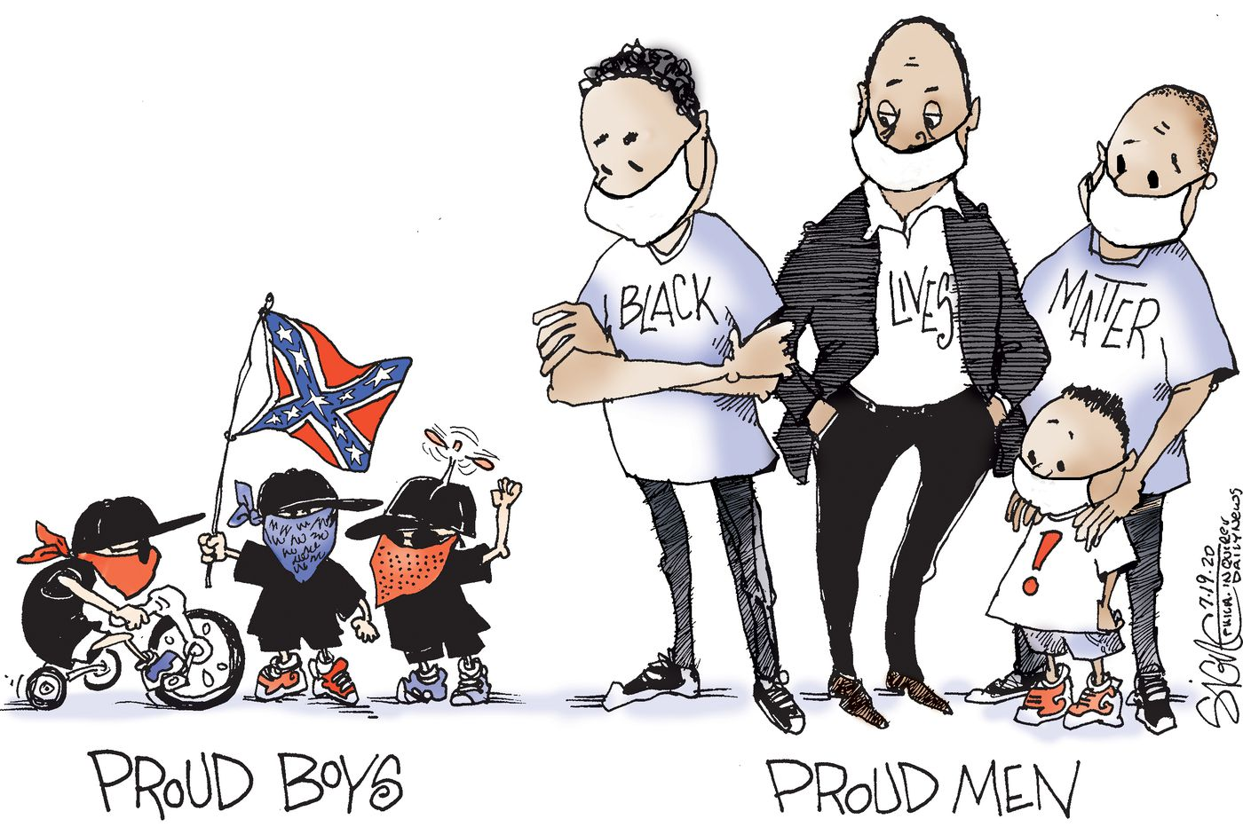 Political Cartoon: Proud Boys to Men