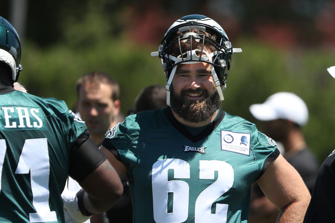 Eagles' Jason Kelce, king of Philadelphia, takes on new role: dad