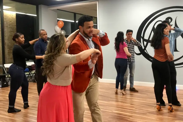 Darlin Garcia, owner of Art in Motion, leads a class in its new location in Blackwood, N.J., on Jan. 26. The studio relocated from Chinatown because of too-high rent.