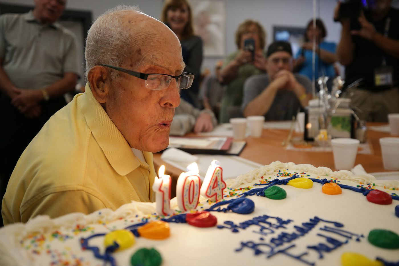 He's turning 104, plays pool, swims, fought in World War II. Fred Gomez has advice for us.   Maria Panaritis