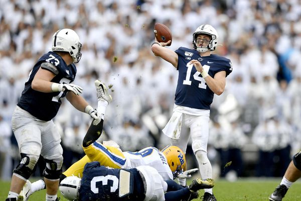 Penn State quarterback Sean Clifford is tough on the field, and on himself