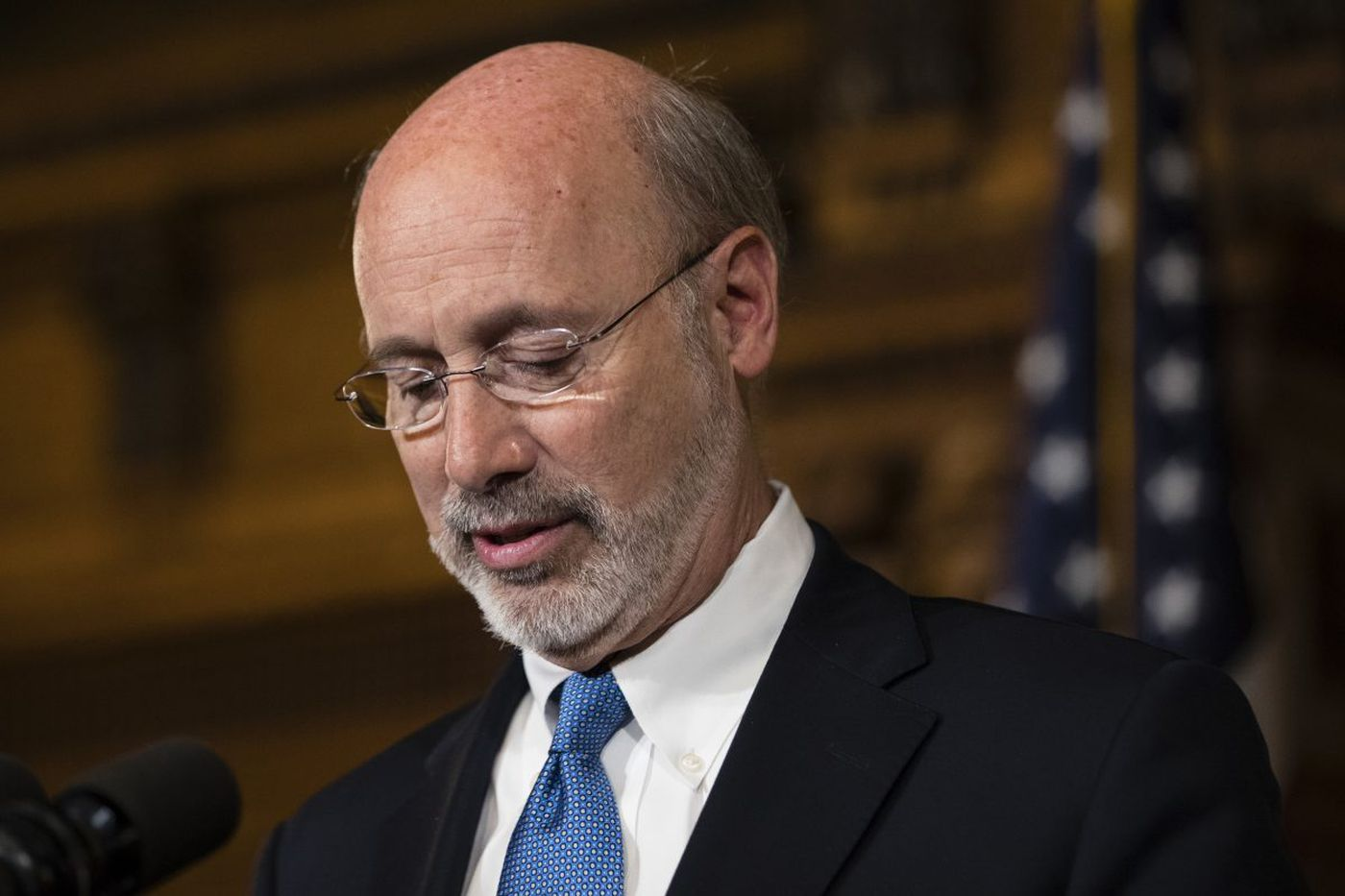 Gov. Wolf keeps low profile on Pa. budget